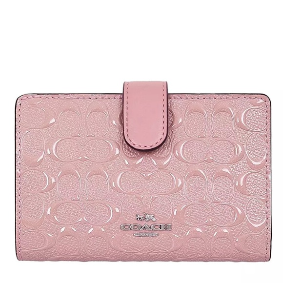 b294bf3e NWT Coach Corner Zip Pink Wallet - Patent Leather NWT